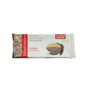 Bizcocho de avena y cacao sin gluten