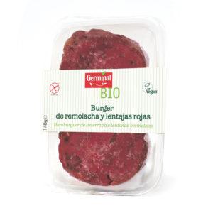 Burguer de remolacha y lentejas rojas vegana y sin gluten