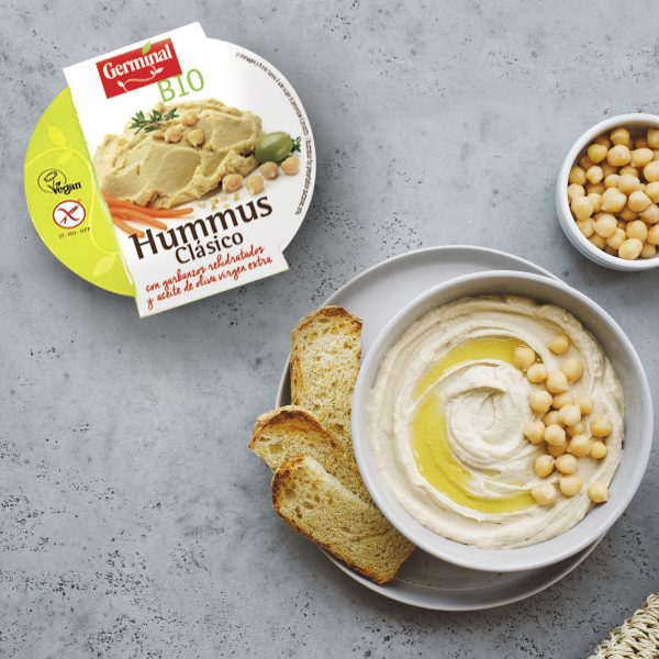 hummus clásico de garbanzos bio sin gluten Germinal Bio