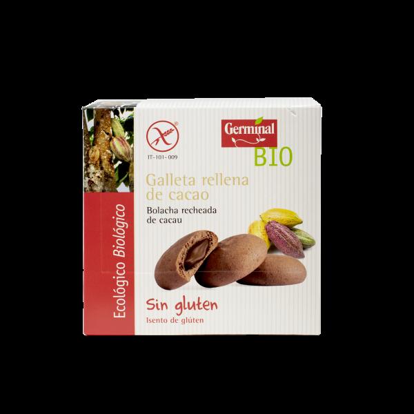 Galleta sin gluten rellena de cacao