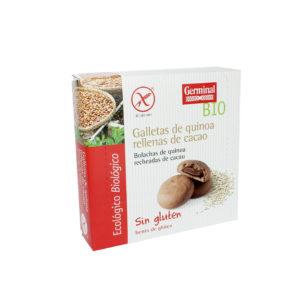 Galletas sin gluten de quínoa rellenas de cacao