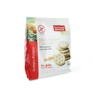 Mini crackers con cúrcuma sin gluten