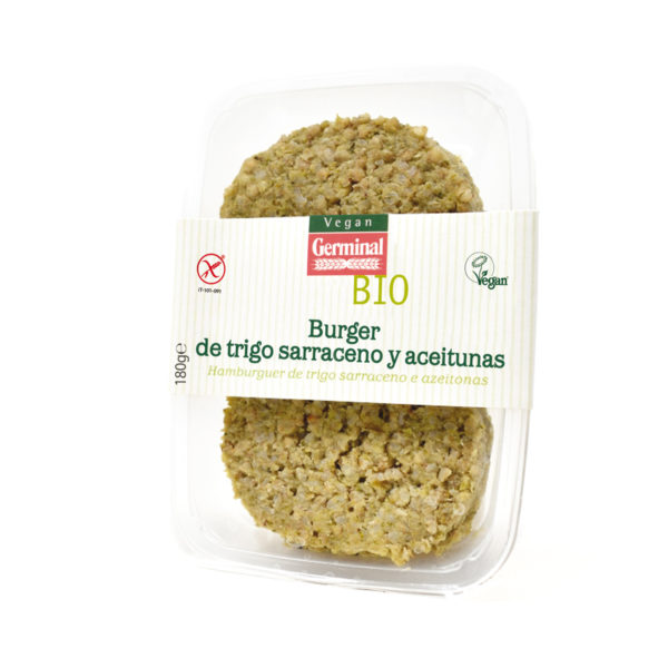 Burger de trigo sarraceno y aceitunas
