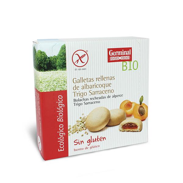 Galletas rellenas de crema albaricoque   Germinal BIO