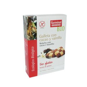 Galletas sin gluten de cacao con vainilla