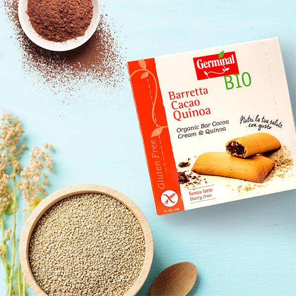 Barrita de quinoa y cacao | Germinal BIO