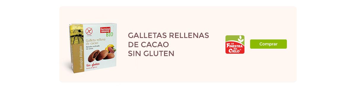 Galletas rellenas de cacao | Germinal BIO