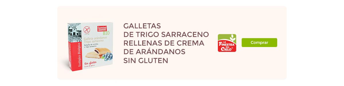 Galletas de trigo sarraceno rellenas de crema de arándanos | Germinal BIO