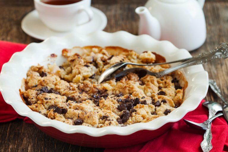 Crumble de manzana y cacao sin gluten