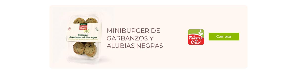 miniburgers de garbanzos y alubias negras